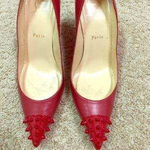 Red Christian Louboutin - size 38.5